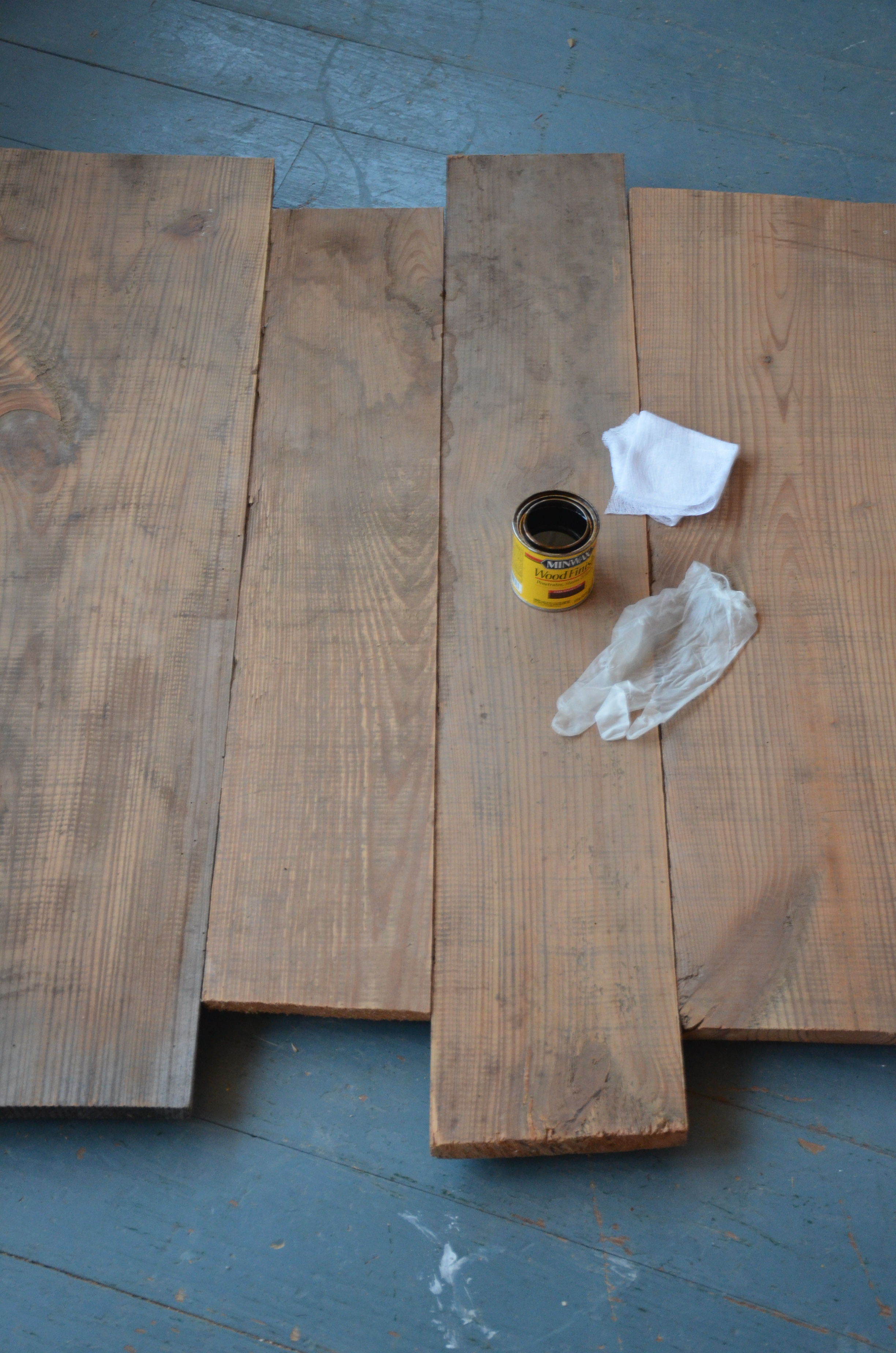 I Wanted To Go For A Different Look Than My White Washed Pallet Boards So I  Pulled Out Some Dark Walnut Minwax Stain And Got To Work. What A  Transformationu2026